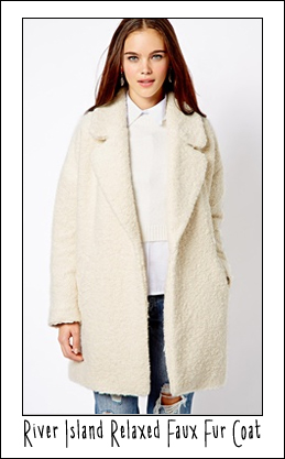 ASOS relaxed faux fur coat