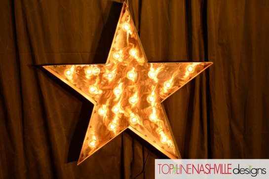 Metal Marquee Star  etsy